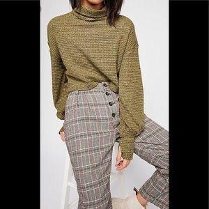 NWT Free People Cropped Knit Turtleneck Top